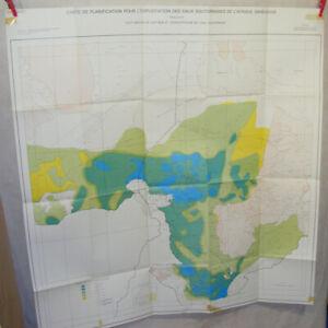 1975 CARTE PLANIFICATION EXPLOITATION EAUX SOUTERRAIN AFRIQUE SOUDANO-SAHÉLIENNE