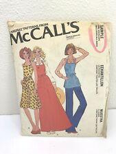McCalls Carefree Sewing Pattern Apron Sz 6-20 three Lengths Uncut Vintage