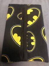 Batman Symbol Black Yellow Cotton Fabric Travel Tissue Pouch Holder