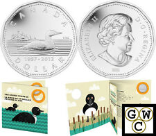 2012 '25th Anniversary of the Loon' Proof $1 Coin Card (Silver Plated) (12920)