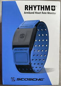Scosche Rhythm+ Heart Rate Monitor Armband Optical Heart Rate Armband, Blue