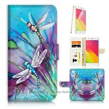 ( For Oppo A57 ) Wallet Case Cover P21094 Dragonfly