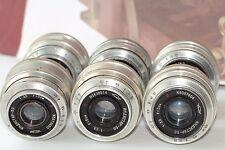 Industar-50 3.5/50 6 pcs. M39 KMZ Silver Soviet Lens For Zorki