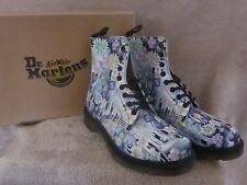 DR MARTENS Pascal Violet Purple Paint Slick Backhand Boots Shoes US 7 EUR 38 NWB