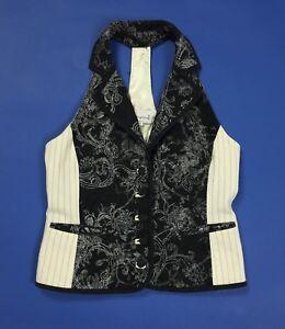 St martins jilet donna usato M vintage retro smanicato jacket senza manica T4553