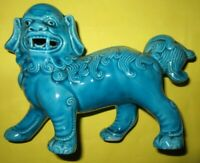 Blue Ceramic Foo Dog very good condition No Damage