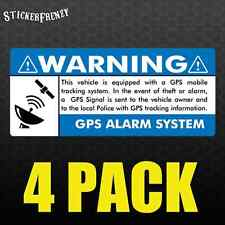 GPS 4 pk 3.5x1.5 BLUE Anti Theft STICKERS Vehicle Security Alarm Decal Car FS003