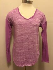Champion V-neck T-Shirt Long Sleeve Lightweight Heather Purple XS Ex. Small NWOT