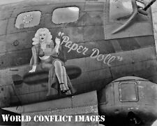 USAAF WW2 B-17 Bomber Paper Doll 8x10 Nose Art Photo 305th BG WWII