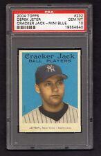 Derek  Jeter 2004 Topps BLUE  Mini Cracker Jack ssp pop 3 card gem mint  psa  10