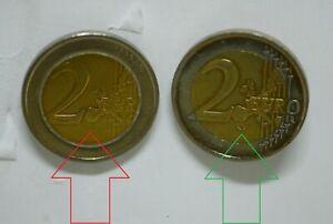 Moneta 2 euro errore di conio rarissima.