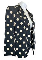 New Anthropologie Corey Lynn Calter Blazer Jacket 4 XS Black Polka Dot NWT $148
