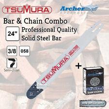 "24"" 3/8 .058 84DL TSUMURA PRO Bar & ARCHER Chain Combo fits Husqvarna FREE POST"