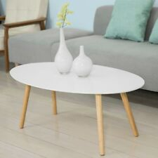 SoBuy®Table Basse ovale Table d'appoint Design Moderne Table de Salon FBT61-W FR