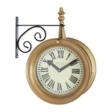 Aspire Home Accents 4066 Delcampe Train Station 2-Sided Wall Clock