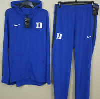 NIKE DUKE BASKETBALL HYPERELITE SUIT JACKET + PANTS BLUE RARE NEW (SIZE LARGE)