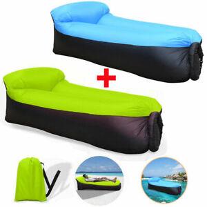 DE Air Lounger To Go Liegesack Sitzsack Luft Sofa Lounge Couch Sessel aufblasbar