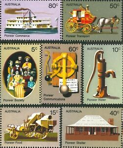 1972 Australia MNH Pioneer Life Stamps Set of 7 - [ 5c-80c ] Early series issues