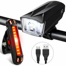 Techole Bike Light Set, Rechargeable Bicycle Lights with 300LM Waterproof Front