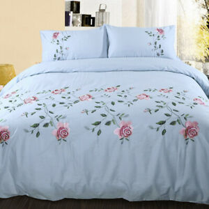 Cotton Twill Bedding Set Bed Sheet Duvet Cover with Button Closure Pillowcase