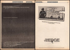 ON / OVER THE EDGE__Orig. 1978 Trade AD promo_poster__MATT DILLON__Ramones__1979