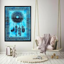 Psychedelic Dream Catcher Tapestry Wall Hanging Blue Poster Dorm Decoration Art