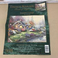Thomas Kinkade Everett's  Cottage Counted Cross Stitch Kit Candamar Designs