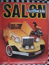 revue L'AUTOMOBILE 1980 G.P FORMULE 1 / CLENET / FIAT RITMO D / RONDEAU M 379 B