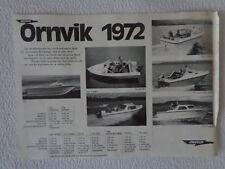 ÖRNVIK Boote Programm-Prospektblatt 1972 aus Schweden - schön, kultig & rar!