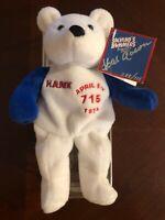 HANK AARON HAND SIGNED SALVINO BAMMER 715 HOME RUN BEAR #588/715 1974 RARE !!!