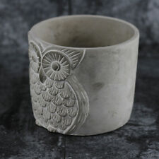 Owl Vase Planter Mold Silicone Concrete Planter Cement Mould Craft Clay