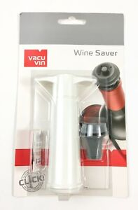 Vacu Vin 0054241 Vacuum Pump with Wine Stopper White NEW