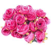 UK SELLER Black Rose Bud Decorative Synthetic Flowers Faux Silk