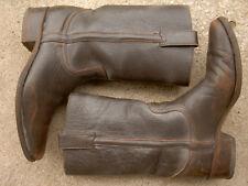 Vintage Dr. Adam's Leather Motorcycle Biker Boots Sendra size: 9 1/2