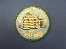 Vintage Lincoln's Birthplace Kentucky Log Cabin Iron on Patch