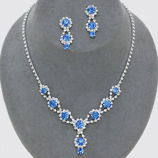 Silver Plated Blue Fashion Jewellery Sets