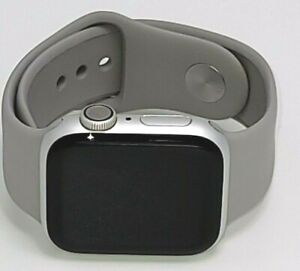 Apple Watch Series 4 40 mm silver Aluminum Case Grey Sport Band (MU642LL/A)