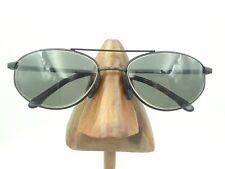 Vintage APEX Logan 01099 Black Metal Oval Eyeglasses Sunglasses Frames