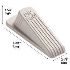 Master Caster Big Foot Doorstop, No-Slip Rubber Wedge, Beige