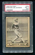 1940 Play Ball Shoeless Joe Jackson #225 PSA 7 o/c SP Black Sox Baseball Card