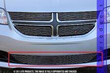 GTG 2011 - 2016 Dodge Grand Caravan 1PC Polished Overlay Bumper Billet Grille