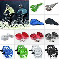 Bicycle Accessories Bike Cycling Seat Pad Saddles Platform Pedals Handlebar Tape