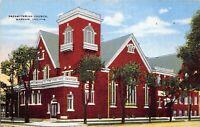 Warsaw Indiana 1940s Postcard Presbyterian Church