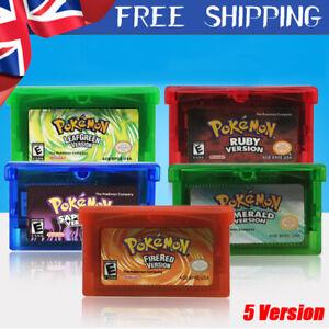 FUN Pokemon Advance Gameboy Cartridge Game Card For Nintendo NDSL/GBC/GBM/GBA/SP