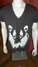 Large Grey V Neck Short Sleeve Rorschach T Shirt in a 100% Cotton by November