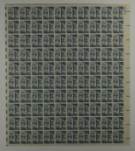US SCOTT 1034 PANE OF 100 BUNKER HILL STAMPS 2 1/2 CENT FACE MNH