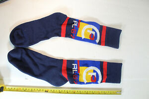 RARE Polo Ralph Lauren navy LIMITED EDITION Terrain rl 67 Crew Socks Ski