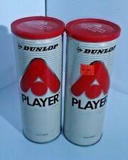 Dunlop Player Tennis Ball Can Metal Vintage with Wilson Tennis Balls