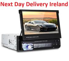 7'' HD retractable Touch Screen Car Stereo Radio FM/MP5/MP3/USB Bluetooth AUX 1