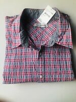 James Campbell Button Down Red Men's Extra Large Shirt